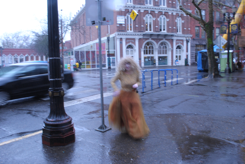 contessa luna walking in rain portland oregon