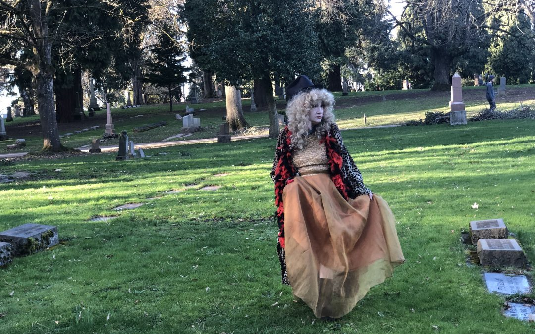 dancing in graveyard